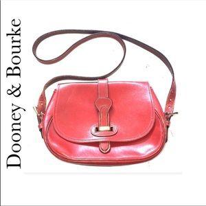 VINTAGE Dooney & Bourke Saddle Bag Style Purse
